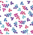 blossom leaves flat seamless pattern vector image