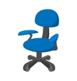 Blue office chair cartoon icon vector image vector image