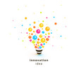 bright colorful lightbulb abstract innovation vector image