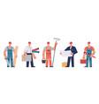 builders team construction engineers contractors vector image