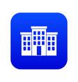 building icon digital blue vector image vector image