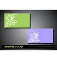 business card with a bunch of grapes vector image vector image