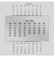 calendar month for 2016 pages May vector image