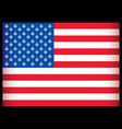 cannabis usa flag vector illustration vector image