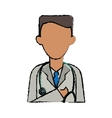cartoon doctor healthcare professional clinic vector image vector image