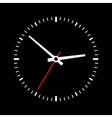 Clock dial on a black background vector image vector image