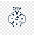 compass concept linear icon isolated on vector image vector image
