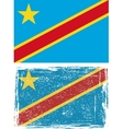 Congo grunge flag Grunge effect can be cleaned vector image vector image