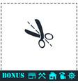 cut icon flat vector image vector image