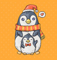 cute cartoon penguins cartoon in vector image vector image