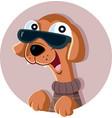 fashion dog cartoon vector image vector image