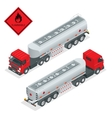 Fuel gas tanker truck isometric vector image vector image