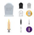 funeral ceremony cartoonblackflatmonochrome vector image vector image