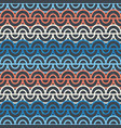 geometric pattern with abstract waves and grunge vector image