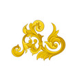 golden baroque ornament pattern in victorian vector image vector image