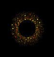 golden splash or glittering spangles round frame vector image vector image