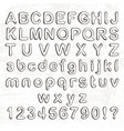 hand drawn doodle font cartoon alphabet vector image
