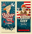 Happy Labor day american banner collections vector image vector image