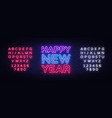 happy new year neon text neon sign vector image vector image