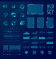 hud elements collection set graphic abstract vector image vector image