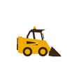 icon mini loader construction machinery vector image