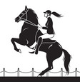 jockey riding a horse shows jumping vector image vector image