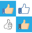 like icon in flat style isolated on white vector image vector image