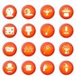 Magic icons set vector image vector image
