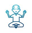 man doing yoga vector image