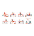 massage therapists at work flat vector image