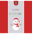 Merry Christmas greeting card38 vector image