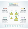 money bags infographic template with icons vector image