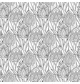 monochrome seamless pattern with tulips vector image vector image