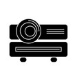 multimedia projector icon vector image