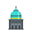 muslim church icon flat style vector image vector image