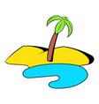 oasis in desert icon cartoon vector image
