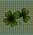 patrick s day clover leaf translucent image vector image vector image