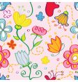pattern floral vector image vector image
