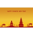 Pavilion beauty scenery of silhouettes vector image vector image
