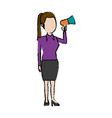 politician woman holds megaphone advertising vector image