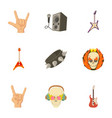 rock playground icons set cartoon style vector image vector image