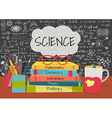 Science class books vector image vector image