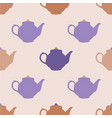 seamless pattern with tea pots vector image vector image