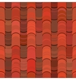 Seamless red clay roof tiles vector image vector image