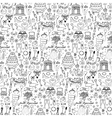 Seamless wedding hand drawn doodle pattern vector image vector image