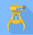 seaport lift crane icon flat style vector image