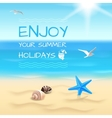 Seaside background layout vector image vector image