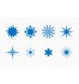 set different unique creative star shape vector image