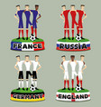 set of soccer teams vector image