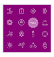 Set of Yoga Elements can be used as Logo or Icon vector image vector image